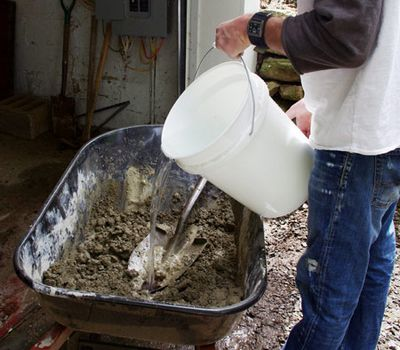 вода в бетоне